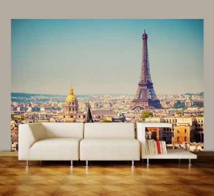 Paris skyline non woven wallpaper